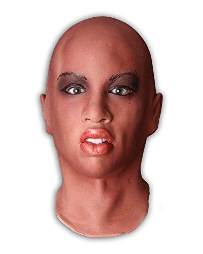 Frauenmaske aus aufgeschäumten Latex incl. ()