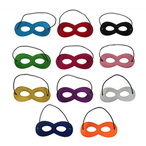 Ndier Maske kostüm 12 Stück Superheld Filz Augenmasken Adjustable elastisches Seil Halbmasken Halloween verkleiden Maske Groß für Partei Cosplay Accessoires zufällige Farbe (Baby Superheld Kostüm)