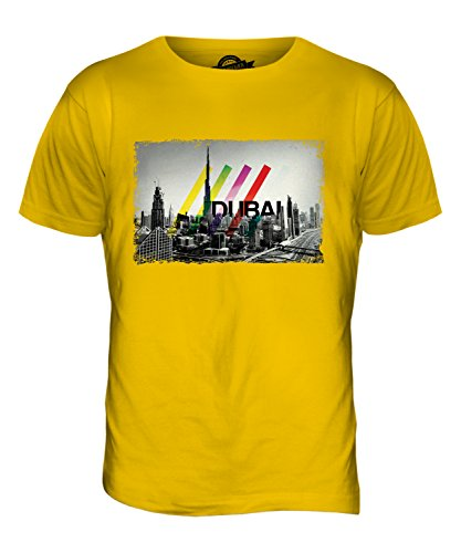 CandyMix Dubai Skyline Herren T Shirt Dunkelgelb