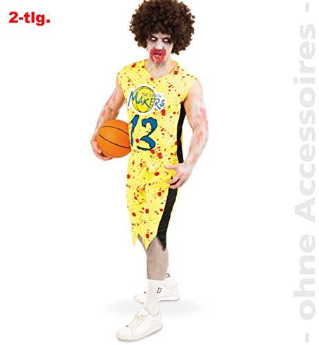 Unbekannt Herren Kostüm Zombie Basketballer (M) zu Karneval, -