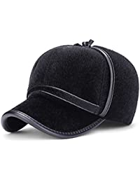 9ac0cc805e8 GR Men s Europe And The United States Export Imitation Mane Baseball Cap  Winter Outdoor Thick Warm Earmuffs winter Hat (Color   Black