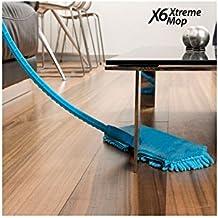 X6 Mopa Flexible, Microfibra, Azul, 40x12x175 cm