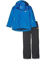 Helly Hansen JR Duro Packable Set - Conjunto con chaqueta y pantalón para niños, color azul, talla 176/16