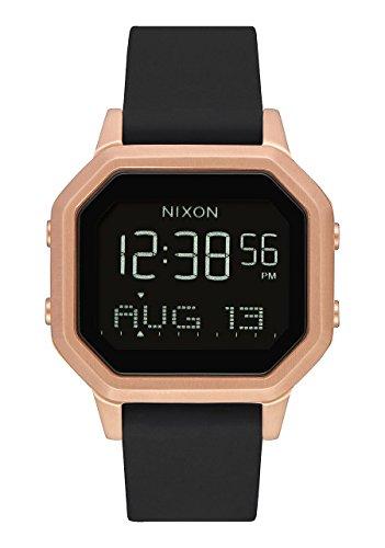 Nixon Siren SS A12111098 - Digitaluhr für Frauen mit pinker Box und schwarzem Silikonarmband. (Nixon-digitaluhr-schwarz)