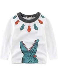 LLDHWX Camiseta para bebés Camiseta de Manga Larga de algodón Puro de Manga Corta para niños Camisa para niños pequeños para niños pequeños Niños Niños Chicas