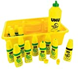UHU UHU Schoolpack de 12 flacons Twist and Glue + recharge 500ml