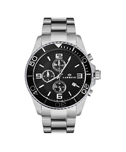 Reloj hombre automático Lorenz clásico Professional 030049FF Negro Acero