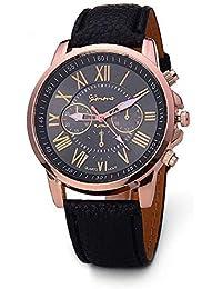 TrifyCore Reloj de Mujer Geneva Correa Doble Capa Nueva Negro 1 Paquete (con Cargo)