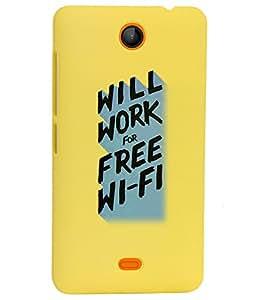 KolorEdge Back Cover For Microsoft Lumia 430 - Yellow (1516-Ke15148Lumia430Yellow3D)