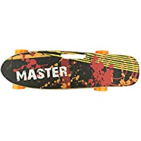 527354 Skateboard eléctrico 70cm MASTER con mando inalámbrico wireless 15 km/h - Amarillo