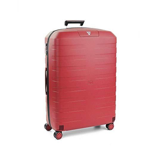Roncato Box 2.0 Trolley Grande - 4 Ruote, 78 Cm, 118 Litri, Rosso