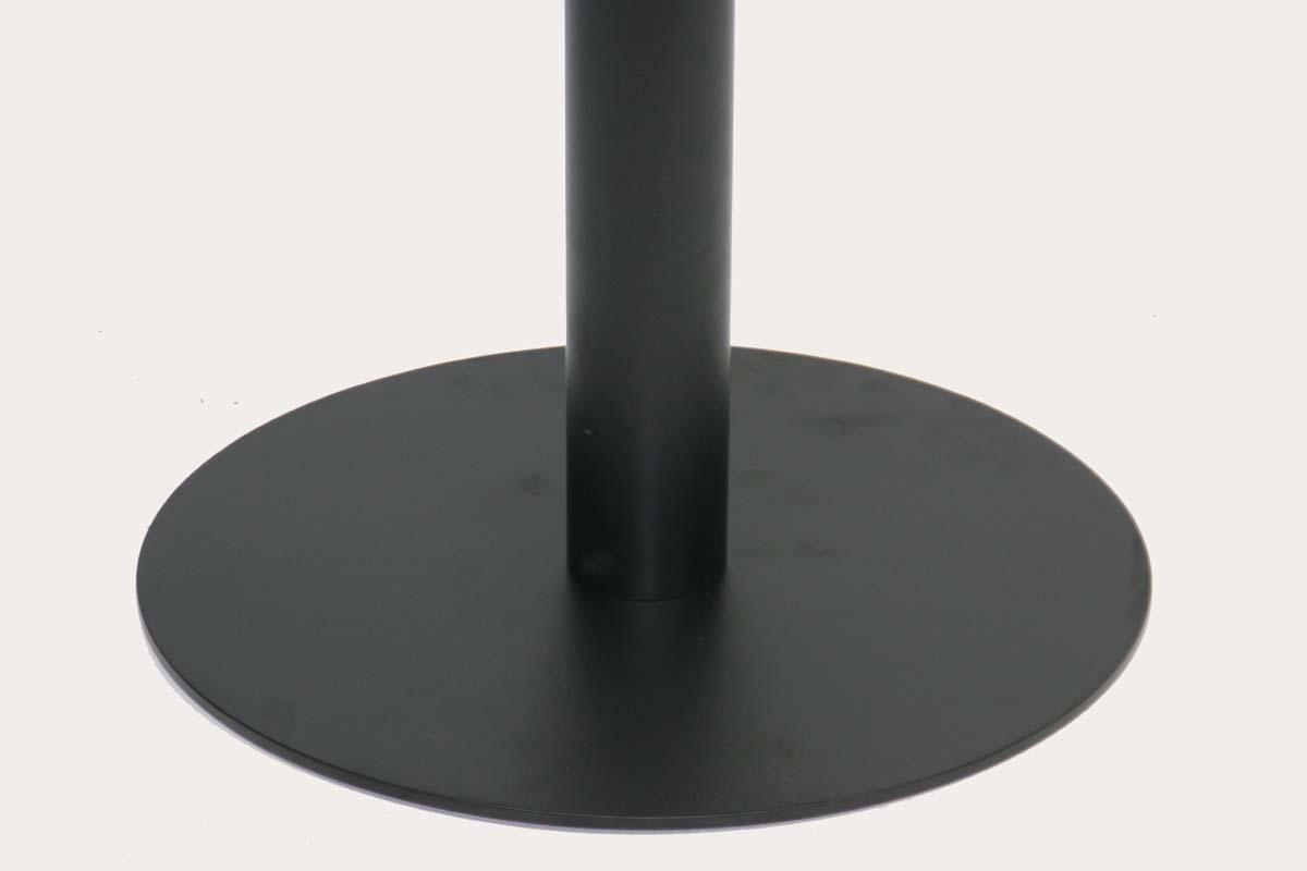 """Tischgestell 75 cm, Tischfuß, Edelstahl, schwarzes Gestell, runder Fuß""""Essen"""""""