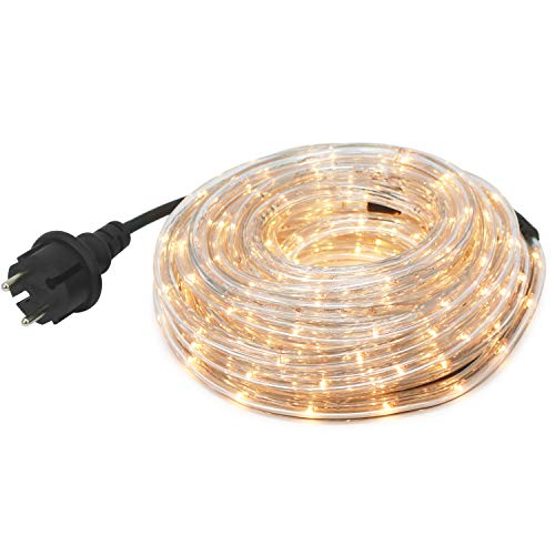 com-four® LED Lichtschlauch mit weißem Licht für Innen- und Außenbereich, Flexible Lichterkette als ganzjährige oder saisonale Deko-Beleuchtung, 9 m (09 Meter weiß - 01 Stück)
