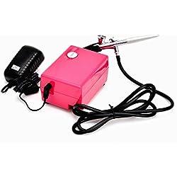 Abest Compresseur Aérographe Kit de maquillage et d'onglerie aérographe kit à action unique