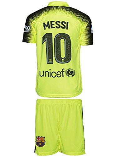 Barcelona Messi #10 2018/19 Auswärts Trikot und Shorts Kinder und Jugend Größe