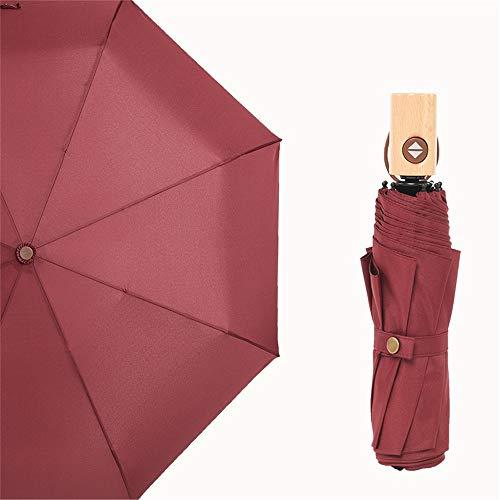 LEIAZ Automatische Regenschirme, Winddichtes Design Kompakte Taschenschirme Mit Rutschfestem, Gummiertem Griff Für Geschäfts- Und Urlaubsreisen,1 -