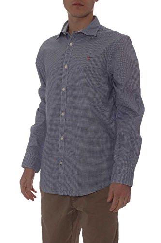 Napapijri Hommes chemise guyamas Vichy forme urbaine Bleu Bleu