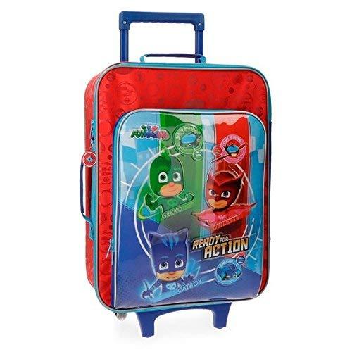 Pj Masks Ready For Action Valigia per bambini, 50 cm, 25 liters, Multicolore (Multicolor)