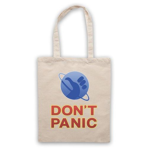 Inspiriert durch Hitchhikers Guide To The Galaxy Don't Panic Inoffiziell Umhangetaschen Naturlich