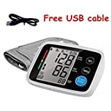 Arm Blood Pressure Pulse Monitors Health Care Monitors Digital Upper Portable Blood Pressure Monitor Meter sphygmomanometer