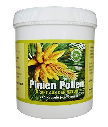 Pinien Pollen 270 Kapseln / 140g Wildsammlung 99{c0f8ff3d1ad0488a8dc97faa24c1bfa645337d53c8748fc93deae14bba9be7ea} Zellwandgebrochen in deutschem Labor auf Schadstoffe geprüft Hergestellt in Deutschland