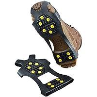 Alivier Antideslizante Cubierta para Zapatos Ice Snow Grips Calzado Botas Tracción Caza Clavos de Goma Antideslizante Montañismo