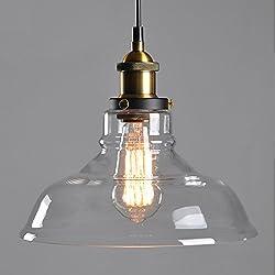 Lámpara de Techo transparente cortina de cristal araña de reequipamiento lámpara de techo de sombra (E27, solo pantalla, no hay bombillas)