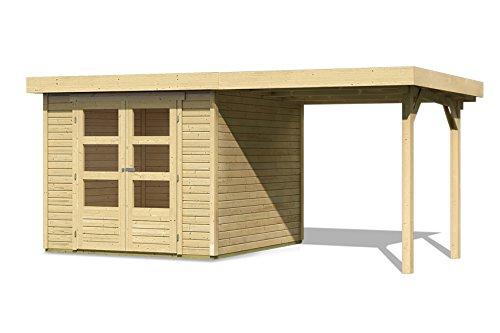 Karibu Gartenhaus SPELLE 19 mm 4,92 x 2,37m mit Schleppdach Gerätehaus Flachdach
