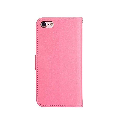 iPhone 8 Plus 5,5Zoll Bling Hülle,iPhone 7 Plus Flip Hülle,TOYYM Luxus Bling Glitzer 3D High Heel Muster Design Ultra Dünn PU Leder Stand Flip Wallet Magnet Brieftasche mit Kartenfach Innere Silikon S Rosa
