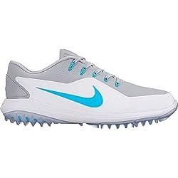 Nike Lunar Control de Vapor del Hombres Zapatos de Golf, Wolf Gray/Blue Fury/White Green