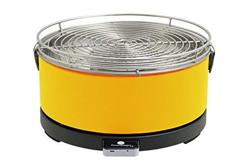 Feuerdesign Mayon Grill e Pinza per Barbecue, Diametro 33 cm, Acciaio Inossidabile, Giallo, 38x37x21 cm
