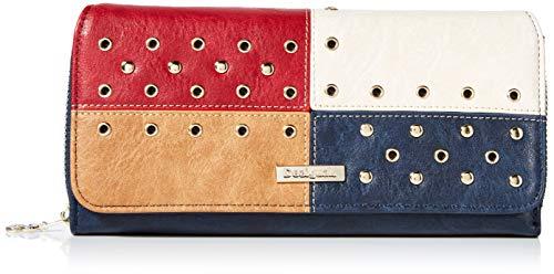 Desigual Wallet Torino Maria Women - Portafogli Donna, Blu (Navy), 3x9.5x20.2 cm (B x H T)