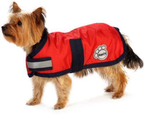Masta - Cappottino impermeabile per cane, rosso  (rosso), 24 Inch