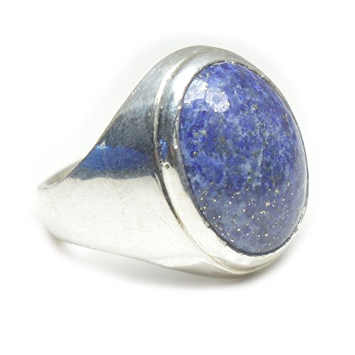55Carat Herren -  Nicht zutreffend  Sterling-Silber 925 Ovalschliff   blau Lapis Lazuli