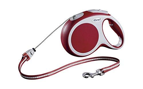 flexi Roll-Leine Vario M Seil 8 m rot für Hunde bis max. 20 kg
