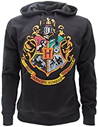 Harry Potter SUDADERA CON CAPUCHA Hoodie Simbolo de COLEGIO DE HOGWARTS Simbolo 4 CASAS - 100