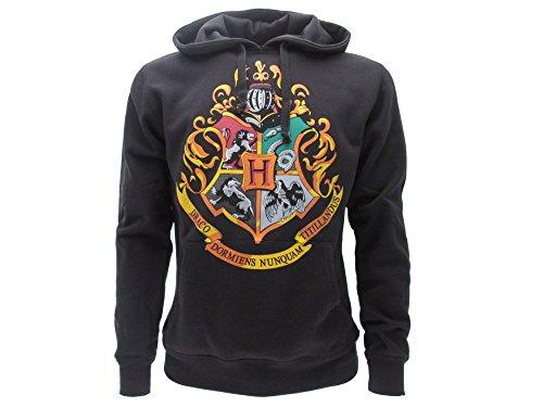 Harry Potter Hoodie Hooded Sweatshirt Hogwarts School Crest 4 Houses - 100% Official Warner Bros