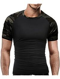 Blouse Homme, Xjp Camouflage Militaire Col Rond Manche Courte Décontractée Svelte T-shirt Pour Été Vacances