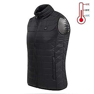 AUTRUN Aktualisiert Männer Outdoor USB Infrarot-Heizung Vest Jacket Winter Carbon Fiber Elektro-Thermokleidung Waistcoat
