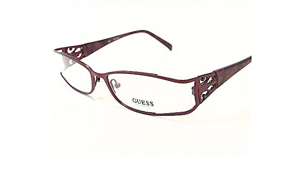 915dcda1244 Guess Gu-1511 Gu1511 Burgundy Bu Optical Frame Eyeglasses 51X17   Amazon.co.uk  Clothing