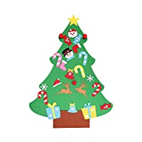 Spritumn Education Toys DIY Christmas Tree ,DIY Felt Christmas Tree Set With Ornaments For Kids,Xmas Gifts,Door Wall Hanging