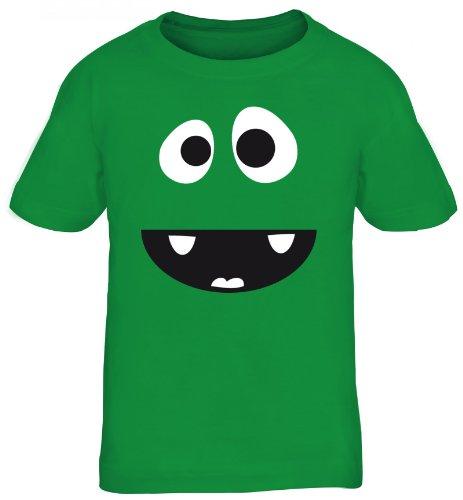 Shirtstreet24, MONSTER HIPPO, Fasching Karneval Kostüm Kids Kinder Fun T-Shirt Funshirt, Größe: 110/116,kelly green