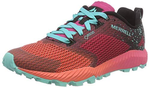 finest selection 1bfb0 94586 Merrell Women s All Out Crush 2 GTX Trail Running Shoes, Red  Azalea Turquoise,