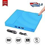 Externes DVD Laufwerk,ShangQia USB 3.0 DVD-RW DVD/CD Brenner mit Berührungssensor Laptops/Desktop/PC unter Windows und Mac OS für Apple MacBook/MacBook Pro/MacbookAir /Mac