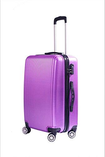 Xiuxiandianju 20 pollici 24 pollici 28 pollici universale ABS asta caso impermeabile usura diversi bagagli valigia bagaglio di viaggio dimensione Purple