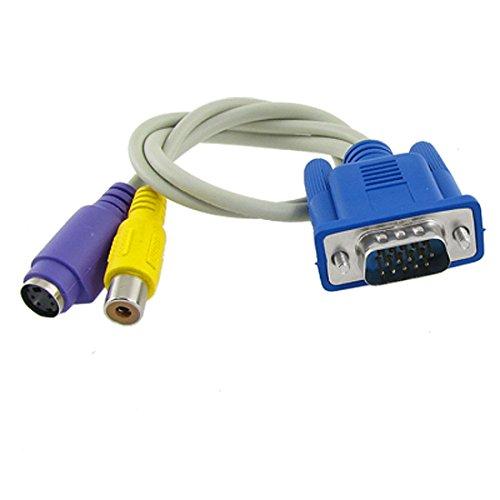 Sourcingmap 32cm VGA TV Konverter S-Video RCA Kabel Adapter