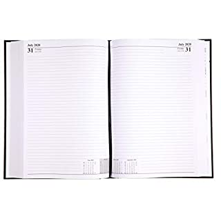 A4 Two Pages Per Day 2020 Desk Diary Black Restaurant Planner