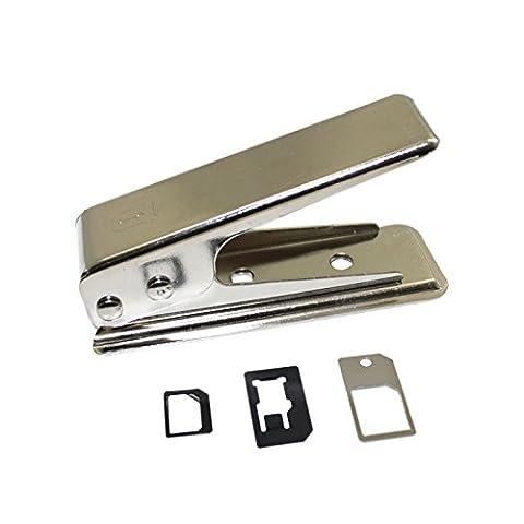 Nano Sim Cutter inkl. Adapter und Nadel Kartenschneider Cutter Stanzer für Smartphones iphone Samsung etc. Schneider von der Marke PRECORN