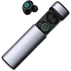 HolyHigh Auricolari Bluetooth Sport Wireless Cuffie Bluetooth Mini Stereo  Cuffie Wireless senza fili con Stazione di 811920553d27