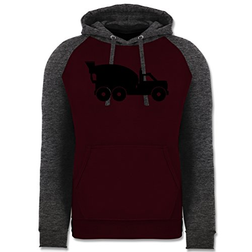 andere-fahrzeuge-betonmischer-xxl-burgundrot-dunkelgrau-meliert-jh009-cooler-unisex-baseball-hoodie-